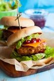 Bożenarodzeniowi Indyczy hamburgery Fotografia Stock