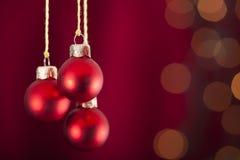 Bożenarodzeniowi ornamenty fotografia stock