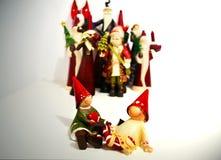 Bożenarodzeniowi ornamenty stwarzają ognisko domowe wystrój Zdjęcie Stock