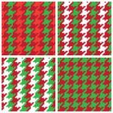 Bożenarodzeniowi piksla Houndstooth wzory Obraz Stock