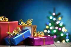 Bożenarodzeniowi prezentów pudełka Zdjęcia Stock