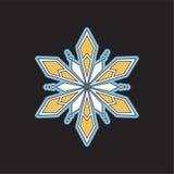 Bożenarodzeniowi wektorowi płatki śniegu ikony Obraz Royalty Free