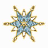 Bożenarodzeniowi wektorowi płatki śniegu ikony Zdjęcia Stock