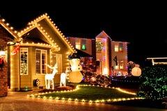 Bożenarodzeniowi wiosek światła Zdjęcie Stock