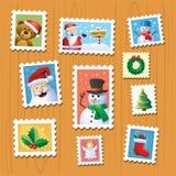 Bożenarodzeniowi znaczki Fotografia Stock