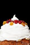 Bożenarodzeniowy śmietankowy torta profil Zdjęcie Stock