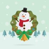 Bożenarodzeniowy śnieżny mężczyzna śnieg Fotografia Royalty Free