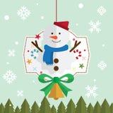 Bożenarodzeniowy śnieżny mężczyzna śnieg Obrazy Stock