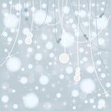 Bożenarodzeniowy Śnieżny tło Zdjęcie Stock