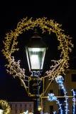 Bożenarodzeniowy świętowania położenie - dekoracje l i choinka Obrazy Royalty Free