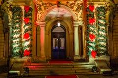 Bożenarodzeniowy świętowania położenie - dekoracje l i choinka Obraz Royalty Free