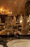 Bożenarodzeniowy świętowanie stół zdjęcia royalty free