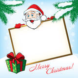 Bożenarodzeniowy Święty Mikołaj ilustracja wektor