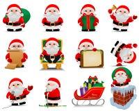 Bożenarodzeniowy Święty Mikołaj set ilustracja wektor