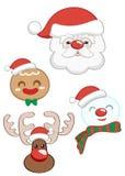 Bożenarodzeniowy Święty Mikołaj set Zdjęcie Royalty Free
