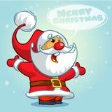 Bożenarodzeniowy Święty Mikołaj z bąblem również zwrócić corel ilustracji wektora Zdjęcia Stock
