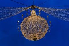 Bożenarodzeniowy świecznik Zdjęcie Royalty Free