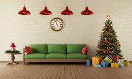 Bożenarodzeniowy żywy pokój ilustracja wektor