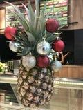 Bożenarodzeniowy ananas obrazy stock