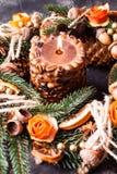 Bożenarodzeniowy aromatyczny eco wianek obrazy royalty free