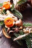 Bożenarodzeniowy aromatyczny eco wianek obrazy stock