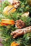 Bożenarodzeniowy aromatyczny eco wianek zdjęcia stock