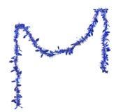 Bożenarodzeniowy błękitny świecidełko. Fotografia Royalty Free
