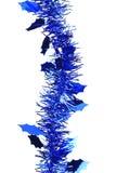 Bożenarodzeniowy błękitny świecidełko. Fotografia Stock