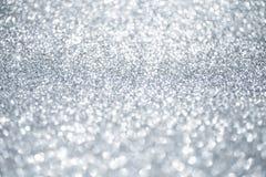 Bożenarodzeniowy błyszczący tło abstrakcjonistyczny srebro Fotografia Stock