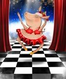 Bożenarodzeniowy baletniczy taniec royalty ilustracja