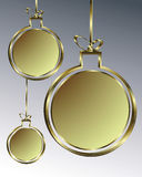 Bożenarodzeniowy balowy złoto Obraz Stock
