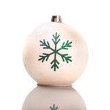 Bożenarodzeniowy bauble, dekoracyjny ornament, odizolowywający Obraz Stock