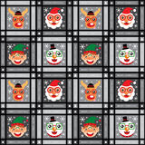 Bożenarodzeniowy bezszwowy Święty Mikołaj i renifer Ilustracji