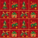Bożenarodzeniowy bezszwowy deseniowy patchwork tekstury tło Fotografia Royalty Free
