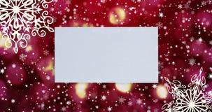 Bożenarodzeniowy bezszwowy loopable tło z, płatek śniegu Odg?rny widok z listu i kopii przestrzeni? zdjęcie wideo