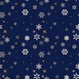 Bożenarodzeniowy bezszwowy tło z płatkami śniegu Zdjęcie Stock
