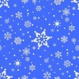 Bożenarodzeniowy bezszwowy tło z płatkami śniegu Zdjęcia Royalty Free