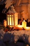 Bożenarodzeniowy blasku świecy anioła śnieg Zdjęcia Stock