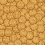 Bożenarodzeniowy brown ciastko z symbolu bezszwowym wzorem Zdjęcia Stock