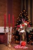 Bożenarodzeniowy bukiet czerwone róże Obraz Royalty Free