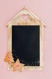 Bożenarodzeniowy chalkboard z przestrzenią dla teksta, Zdjęcia Royalty Free