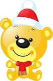 Bożenarodzeniowy charakter - śliczny wektoru niedźwiedź Zdjęcie Stock