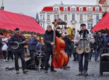 Bożenarodzeniowy czas, Praga fotografia royalty free