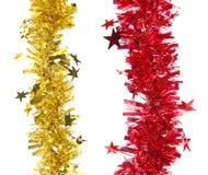 Bożenarodzeniowy czerwieni i koloru żółtego świecidełko. Zdjęcie Royalty Free