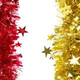 Bożenarodzeniowy czerwieni i koloru żółtego świecidełko. Obraz Royalty Free
