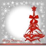 Bożenarodzeniowy czerwony drzewo Zdjęcia Royalty Free