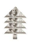 Bożenarodzeniowy drzewo dolar Dobrobyt i pomyślność Zdjęcie Royalty Free