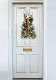 Bożenarodzeniowy drzwi Fotografia Royalty Free
