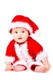Bożenarodzeniowy dziecko w Święty Mikołaj odziewa zdjęcie royalty free