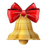 Bożenarodzeniowy dzwon na białym tle ilustracja wektor